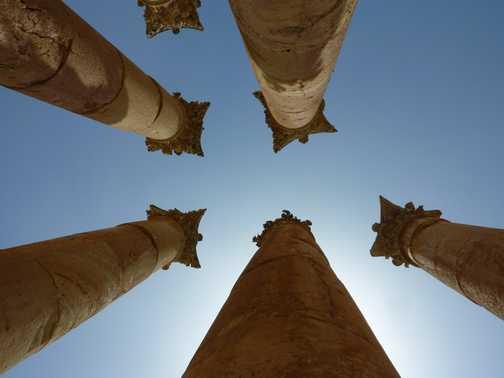 Pillars in Jerash