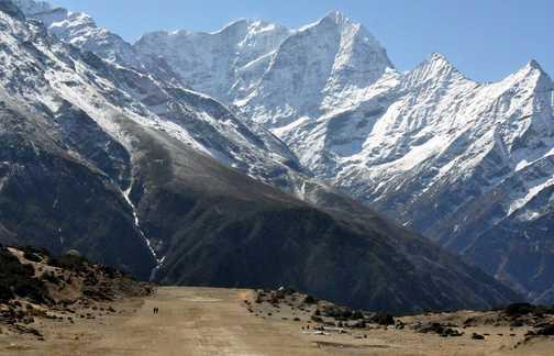 Shyangboche airstrip near Everest view hotel