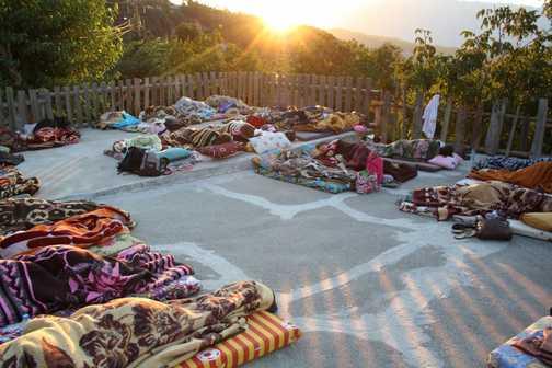 Mountain village - sleeping under the stars