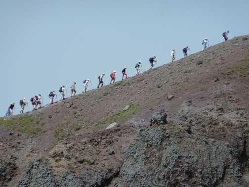 Walking the rim of Vesuvius