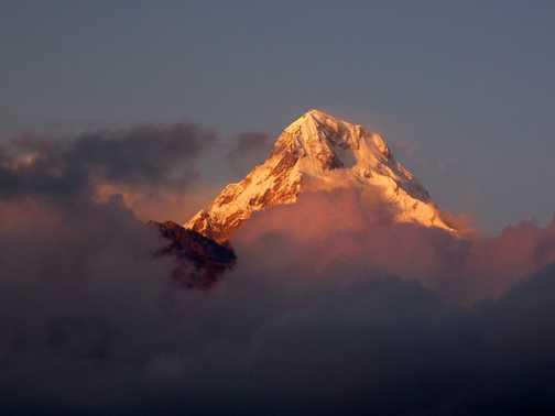 annapurna south - sunset