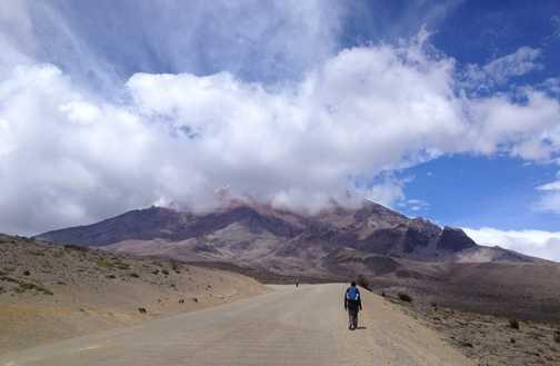 Chimbarazo Walking at Altitude