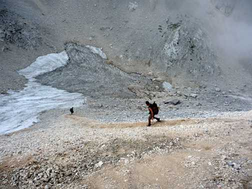 Going down some scree