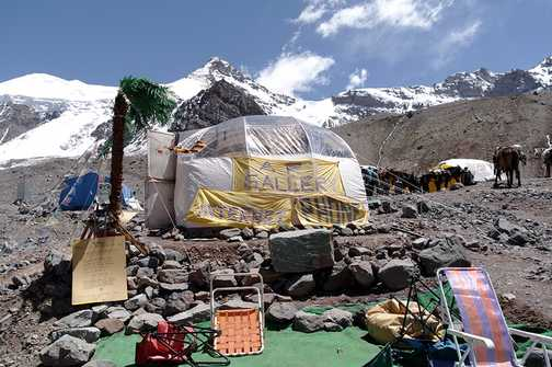 The Nautilus Gallery at base camp, the highest in the world!