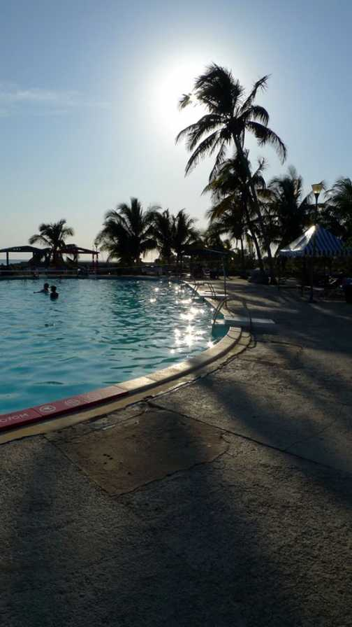 Hotel pool at the Bay of Pigs