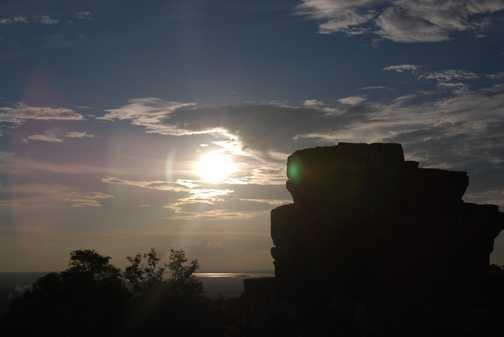 Temple Sunset Silhouette 1