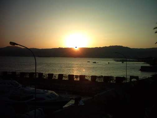 Sunset over Israel from Aqaba
