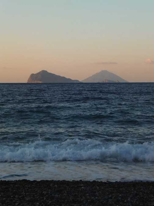 Looking to Stromboli from Cannetto