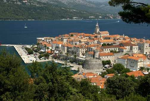 Korcula - our view after a 12km walk through the hinterland