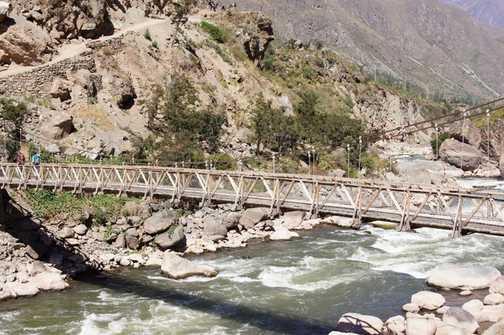 suspension bridge at start point
