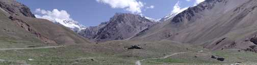 Trail Head Panorama, Aconcagua in background on left