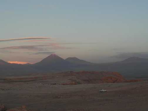 Sunset on Lincanbur Volcano