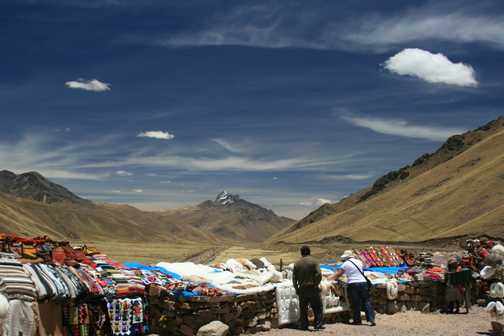 Shopping in the Andes