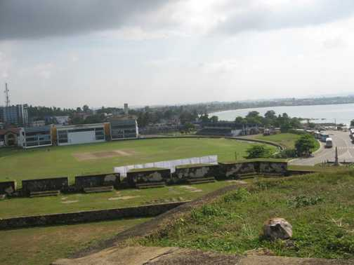 Must surely be one of the most picturesque Cricket ground anywhere (Galle Cricket Ground)
