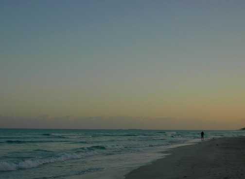 Sunrise on the beach-Happy New Year
