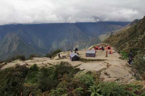 The ridge above Phuyupatamarca