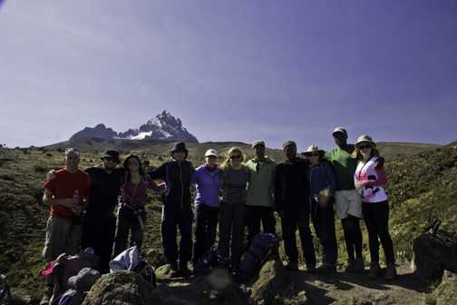 The group with Mawenzi Tarn in the backround