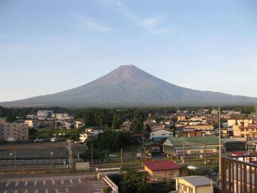 Beautiful Mt Fuji in the morning (from Fujiyoshida)