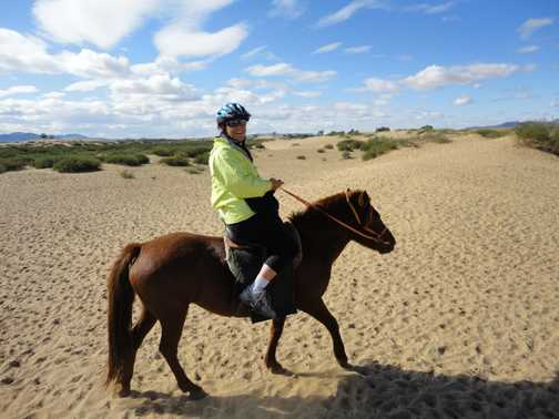 RIDING THE SAND DUNES