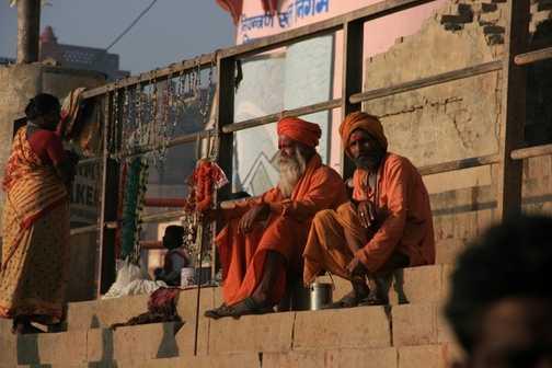 Sadhus at the ghats