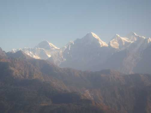 Our first view of Everest during the flight to Lukla