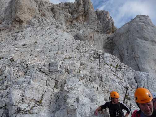 Climbing up Triglav