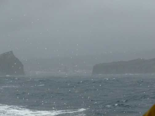 Not exactly sailing weather!