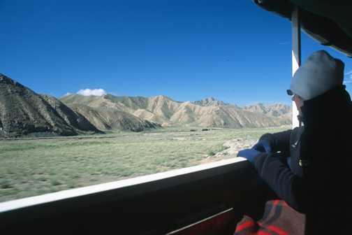 Trucking across the plateau