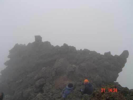 Top of the acclimatization trek