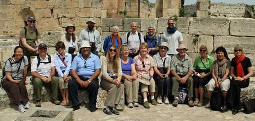Our Group with Adnan at Bosra, Syria
