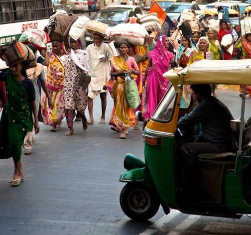 Streets of Delhi.