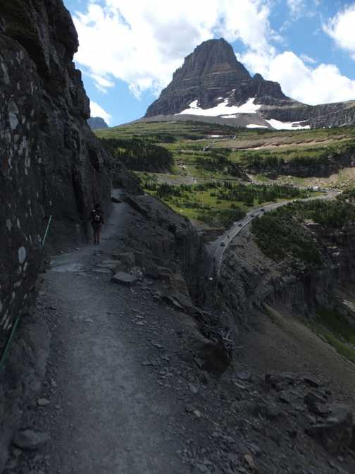 Head for heights needed, Highline Trail, Glacier National Park.