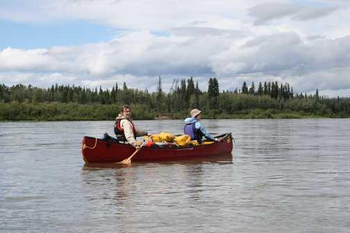 Canoeing on Yukon River