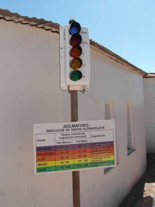 UV indicator in San Pedro de Atacama always showed Extremo