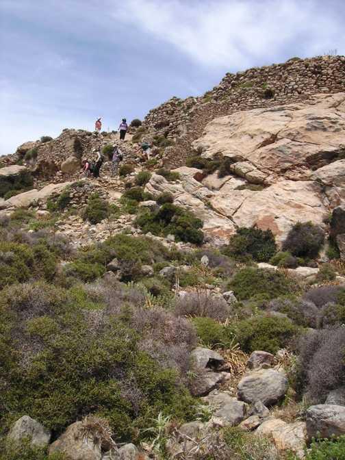 Descent from Tsikalariou Castle Naxos