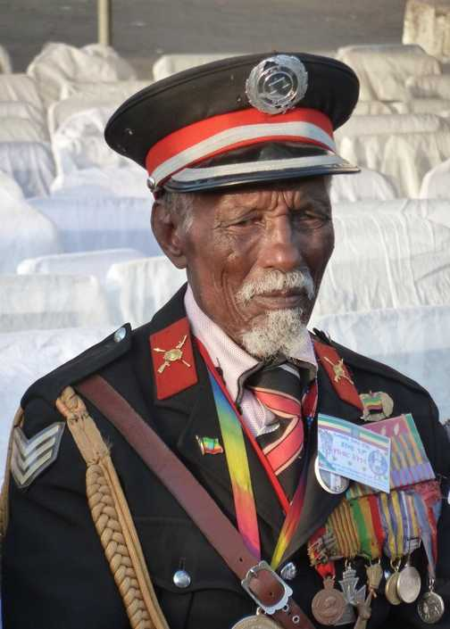 92 year old army veteran at the Meskel Festival