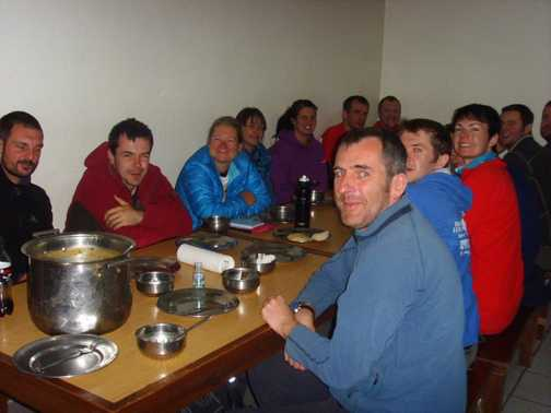 Dinner at Base Camp