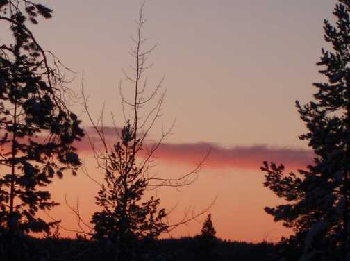 Sunset at Basecamp Oulanka