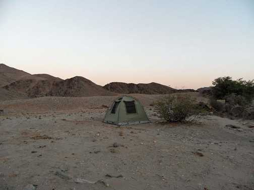 Our tent on the Hoanib river
