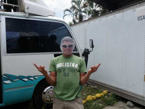 Paul ready for Pineapple Tour