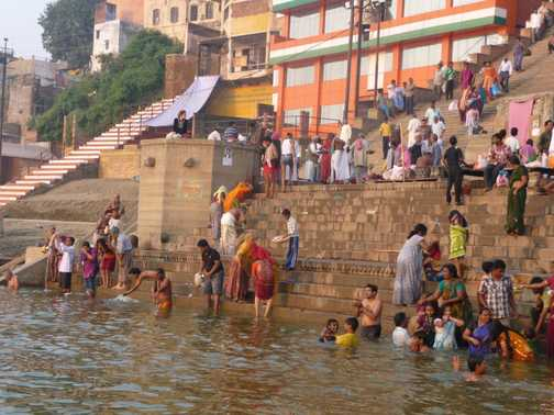 Place for cremation on Ganges