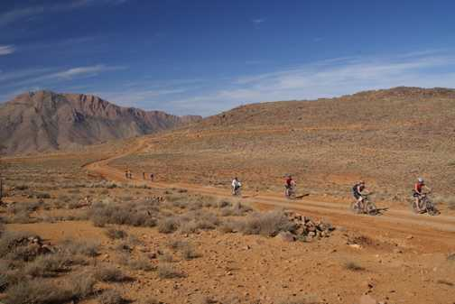 Cycling along the ridges