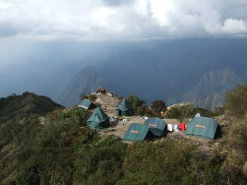 Camping on top of the world!!