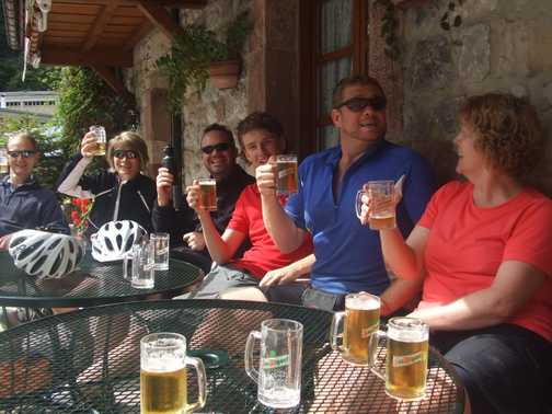 We made it - a well earned Cerveza!!