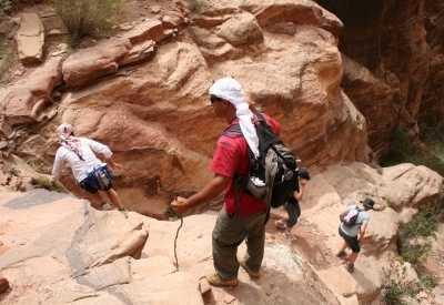 Trekking in Petra