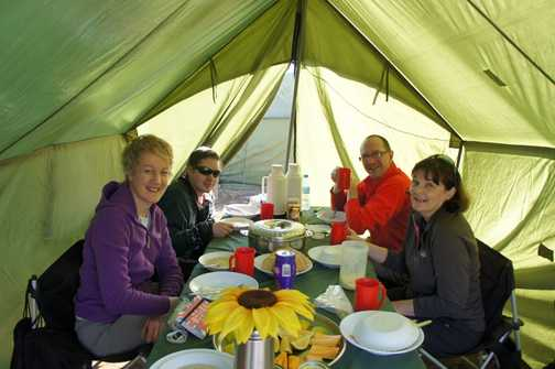 Amazing meals always a welcome sight in the mess tent