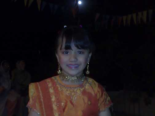 Girl from Hunza at night