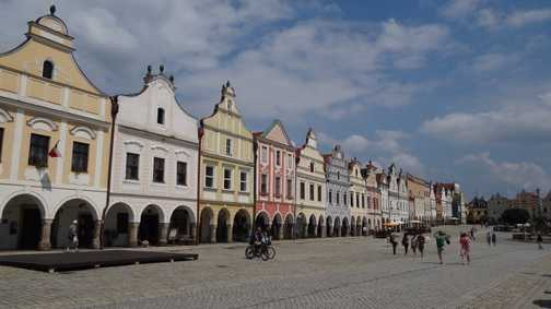 The main square in Telc, Czech Republic
