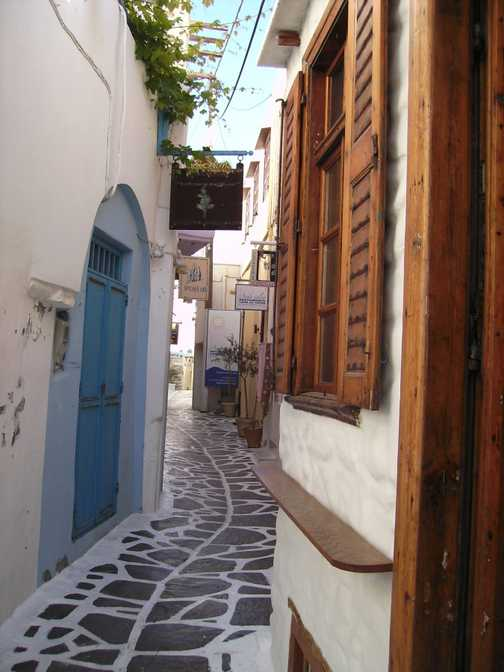 Winding streets of Naxos