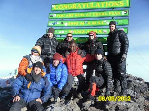 Uhuru Peak - 5895 metres, the roof of Africa